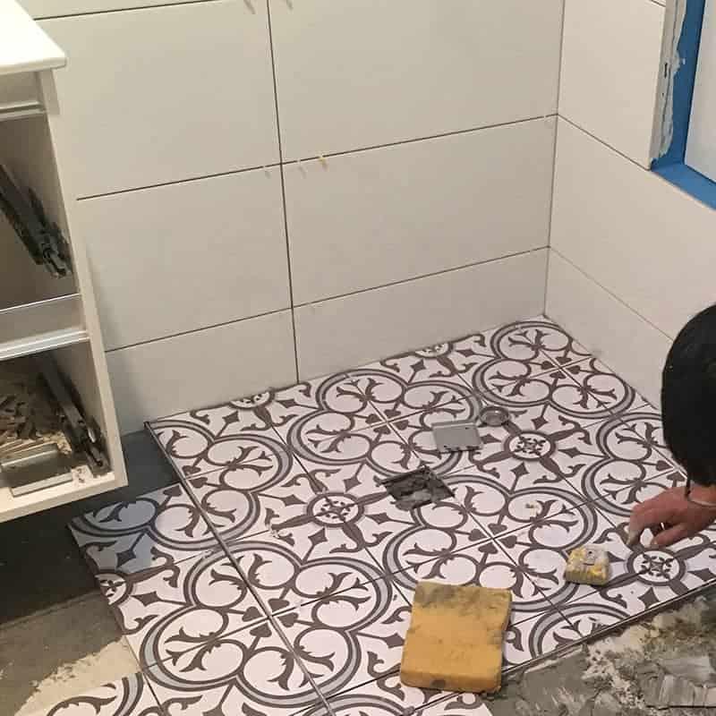 Shower Tiling Bathroom Renovation Step 7