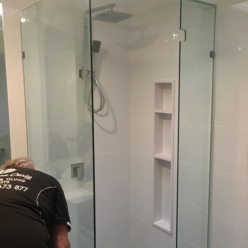 Cleaning Silicone Bathroom Reno Step 9